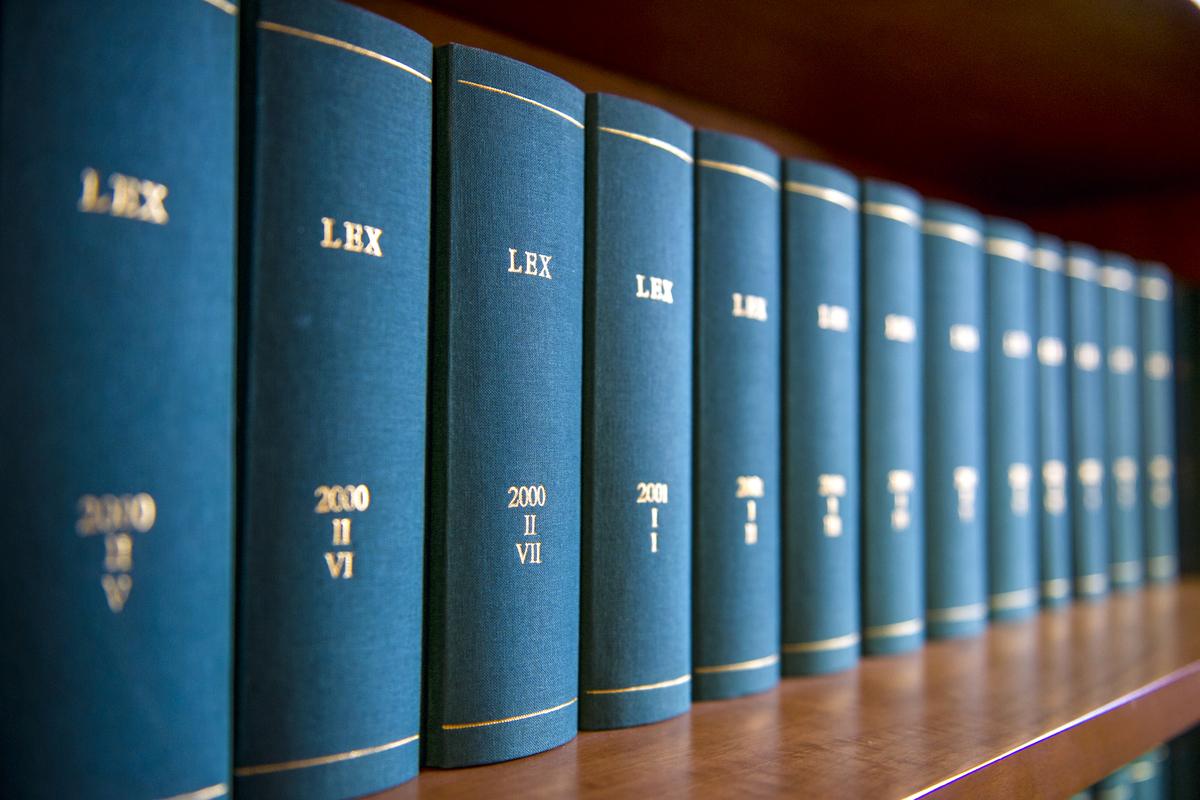 Law,Books,In,Al,Law,Office's,Bookshelf.